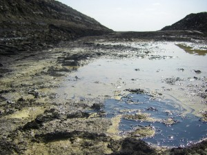 Tar Sands strip mine test pit