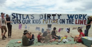 SITLA's dirty work banner