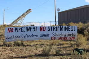 No Pipelines! No Stripmines! Utah Lnad Defenders support Standing Rock and Red Warrior Camp