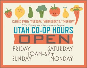 Hours for Utah coop sign