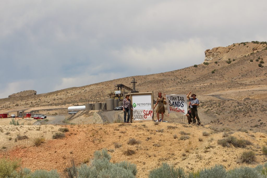 Entrance to Petroteq near Vernal Utah.