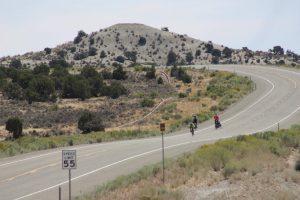 Bike riders on Seep Ridge Road