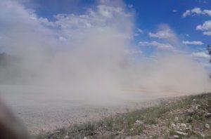 dust on seep ridge road utah